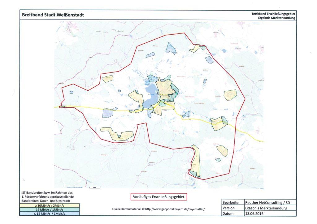 Hier finden Sie die Karte mit dem vorläufigen Erschließungsgebiet für das Ergebnis der Markterkundung